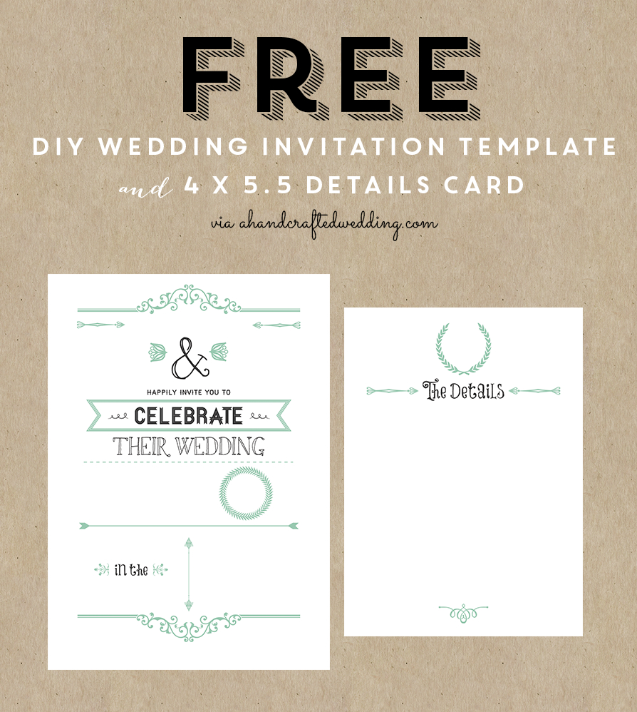 Free Printable Wedding Invitation Template | ** All Things Wedding - Free Printable Wedding Menu Card Templates