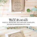 Free Printable Wedding Invitation Template | | Freebies   Free Printable Wedding Invitations