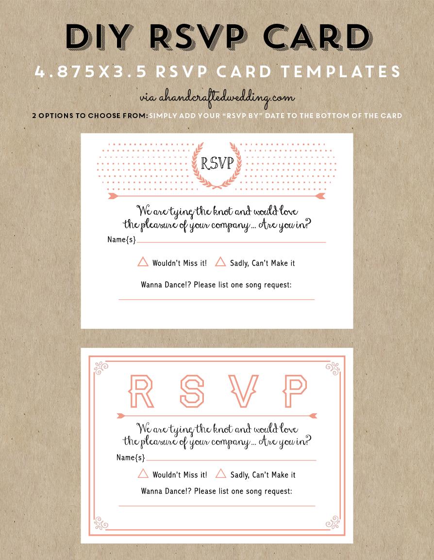 Free Printable Wedding Invitation Template | Wedding Invitations - Free Printable Rsvp