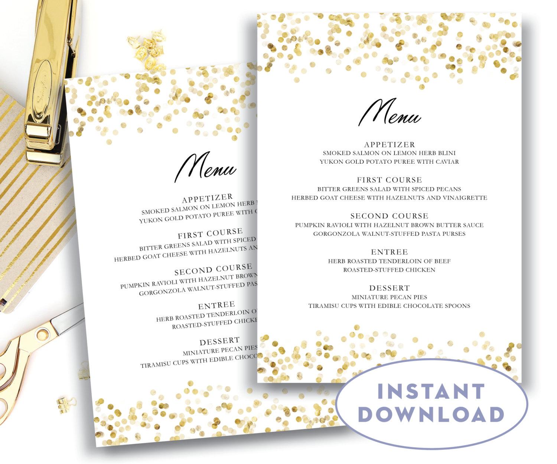 Free Printable Wedding Menus Wedding Menu Template Wedding Menu For - Free Printable Wedding Menu Card Templates