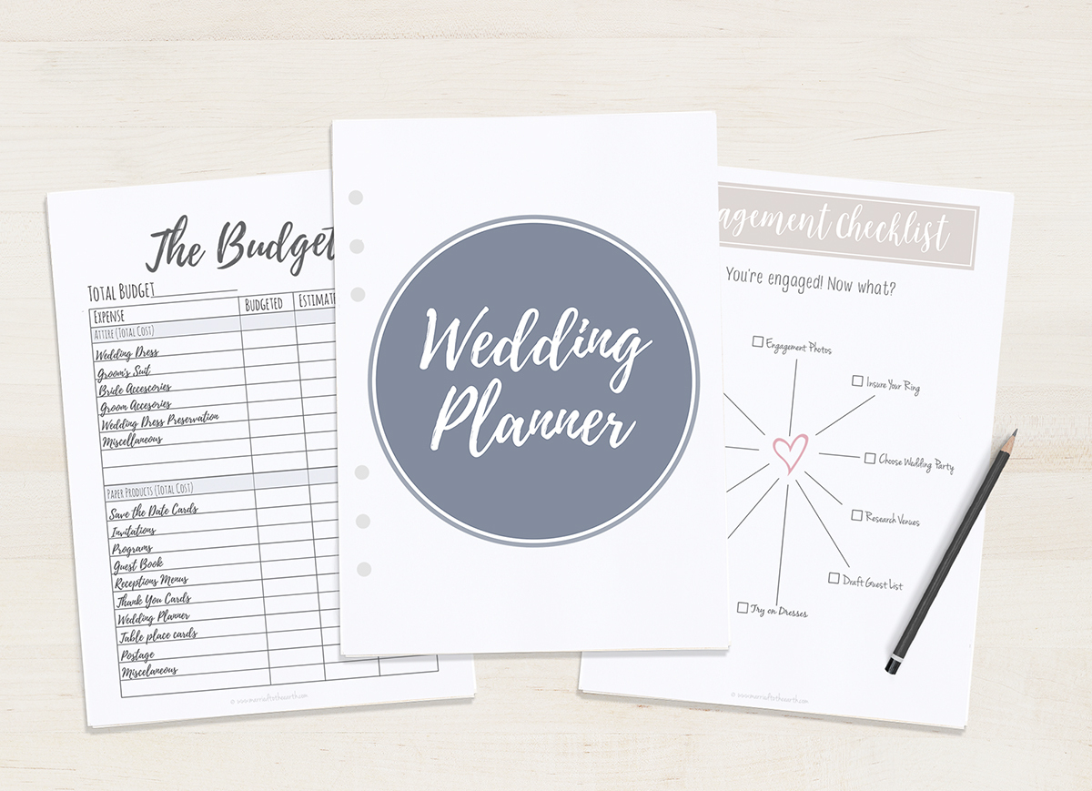 Free Printable Wedding Planner - A5 & Letter - Free Printable Wedding Planner Book Pdf