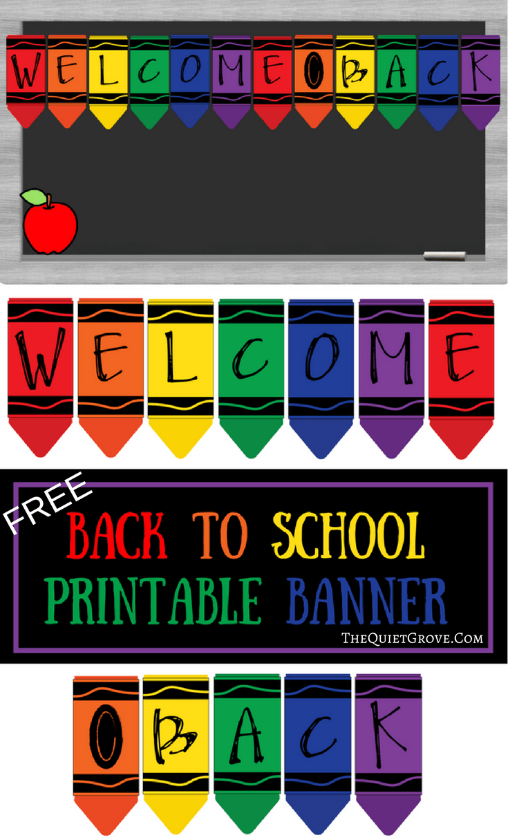 Free Printable Welcome Back To School Banner   The Best From - Free Printable Welcome Back Signs For Work