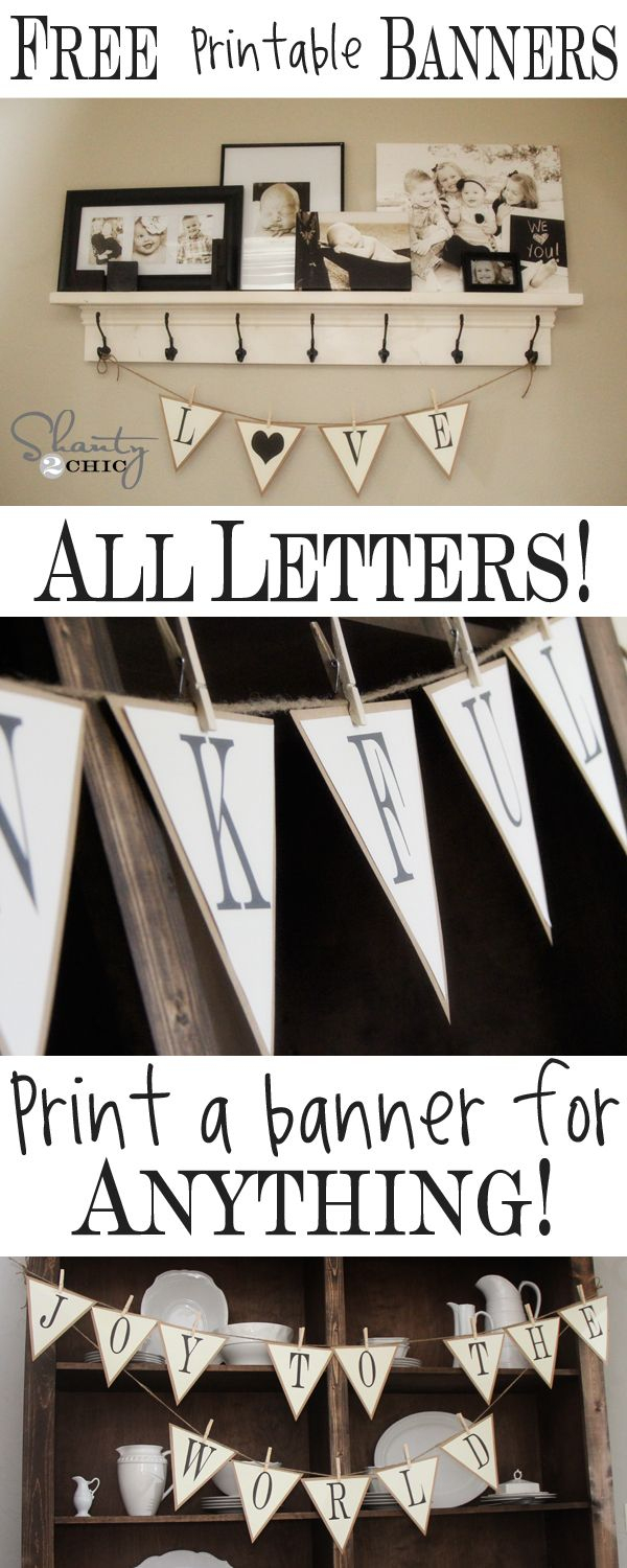 Free Printable – Whole Alphabet Banner!! | D.i.y Projects I May Or - Free Printable Welcome Banner Template