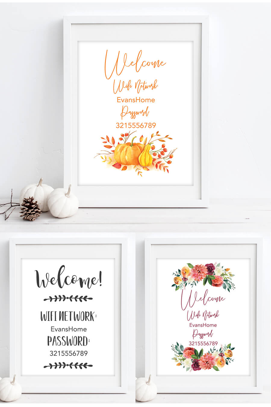 Free Printable Wifi Password Signs For Thanksgiving - Chicfetti - Free Printable Wifi Sign