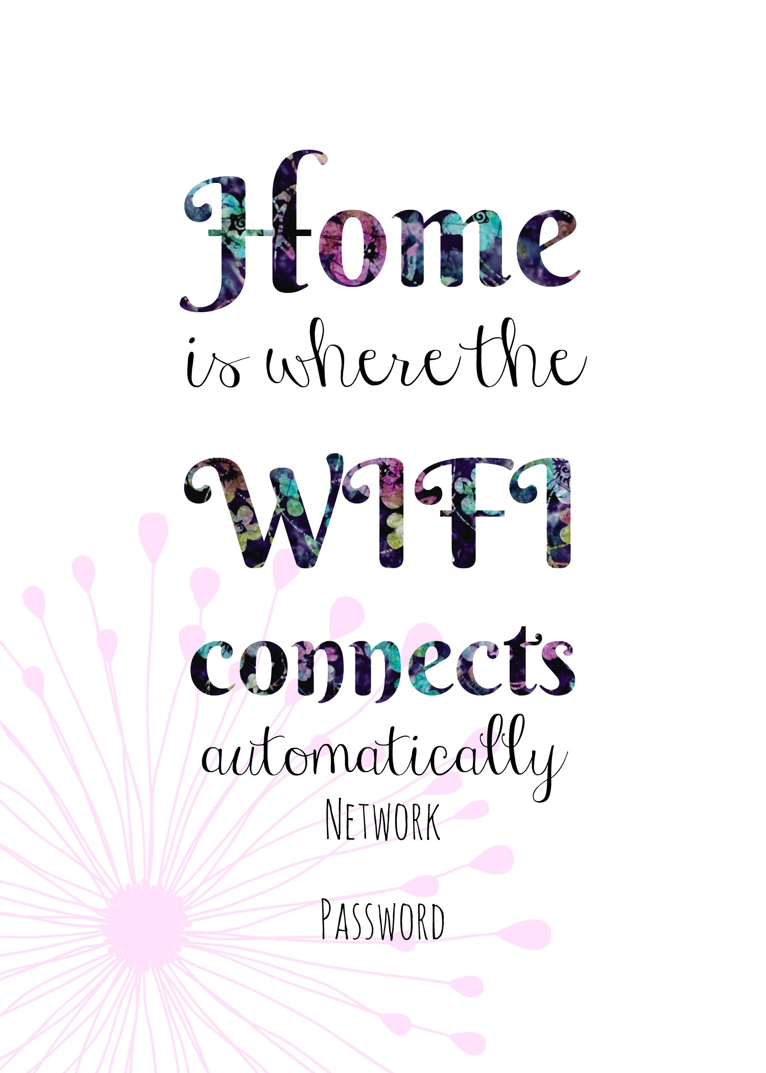 Free Printable Wifi Sign, Guest Room Ideas. - Free Printable Wifi Sign