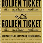 Free Printable Willy Wonka's Golden Ticket  Need To Have A Scrbd   Free Printable Wonka Bar Wrapper Template