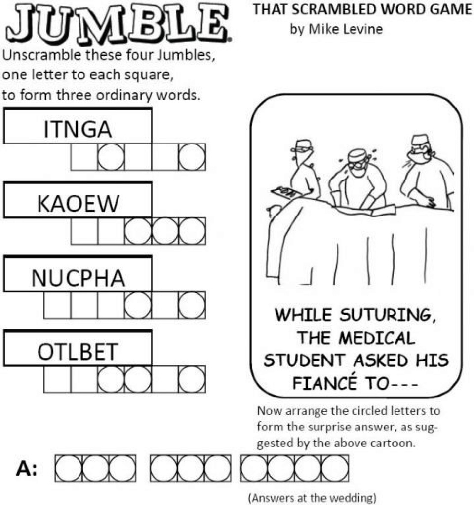 Free Printable Word Jumble Puzzles For Adults Printable Word Jumble - Free Printable Word Jumble Puzzles For Adults