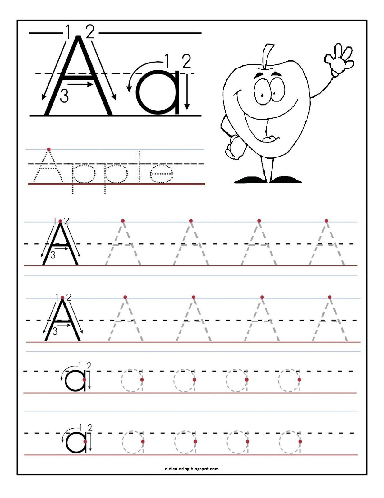 Free Printable Worksheet Letter A For Your Child To Learn And Write - Free Printable Alphabet Pages