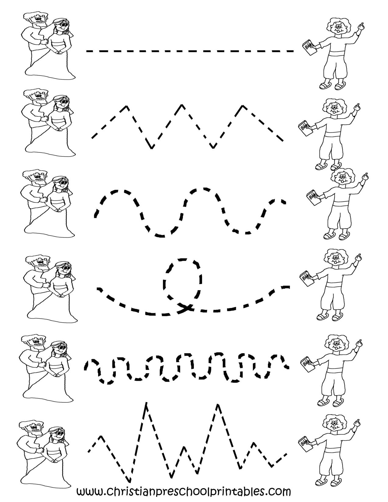 Free Printable Worksheets For Preschool   Preschool Tracing - Free Printable Preschool Worksheets Tracing Lines