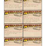 Free Printable World Explorer Indiana Jones Scavenger Hunt Game   Free Printable Treasure Hunt Games