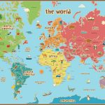 Free Printable World Map For Kids Maps And | Gary's Scattered Mind   Free Printable Custom Maps