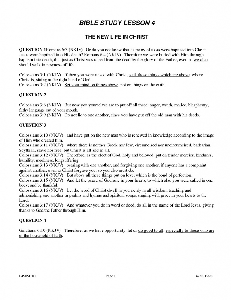 Free Printable Youth Bible Study Lessons | World Of Printable And - Free Printable Bible Study Worksheets For Adults