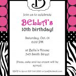 Free Printable Zebra Print Invitations Baby Shower | Emma   Free Printable Animal Print Birthday Invitations
