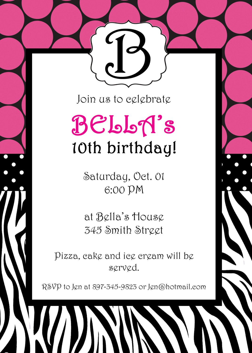 Free Printable Zebra Print Invitations Baby Shower | Emma - Free Printable Animal Print Birthday Invitations