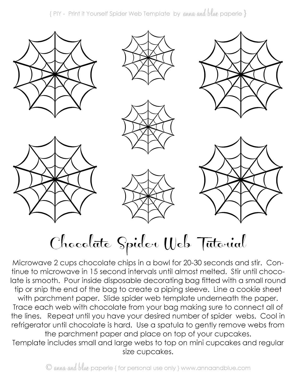 Free Printable~Chocolate Spider Web-Tutorial .<3Anna And Blue - Free Printable Spider Web