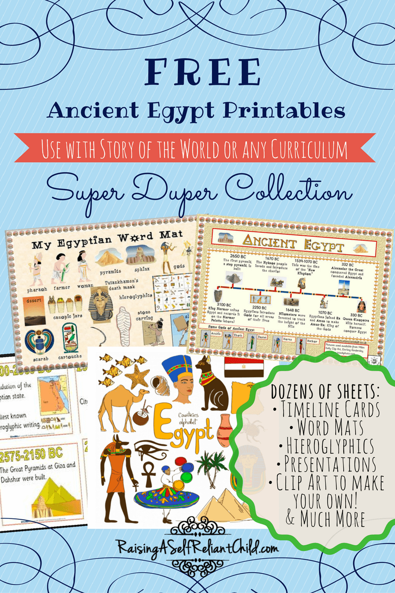 Free Printables Ancient Egypt Homeschool Resources   Ready To Learn - Free Printable Timeline Figures
