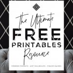 Free Printables • Design & Gallery Wall Resources • Little Gold Pixel   Free Printable Murals