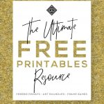 Free Printables • Design & Gallery Wall Resources • Little Gold Pixel   Free Printable Wall Art Decor