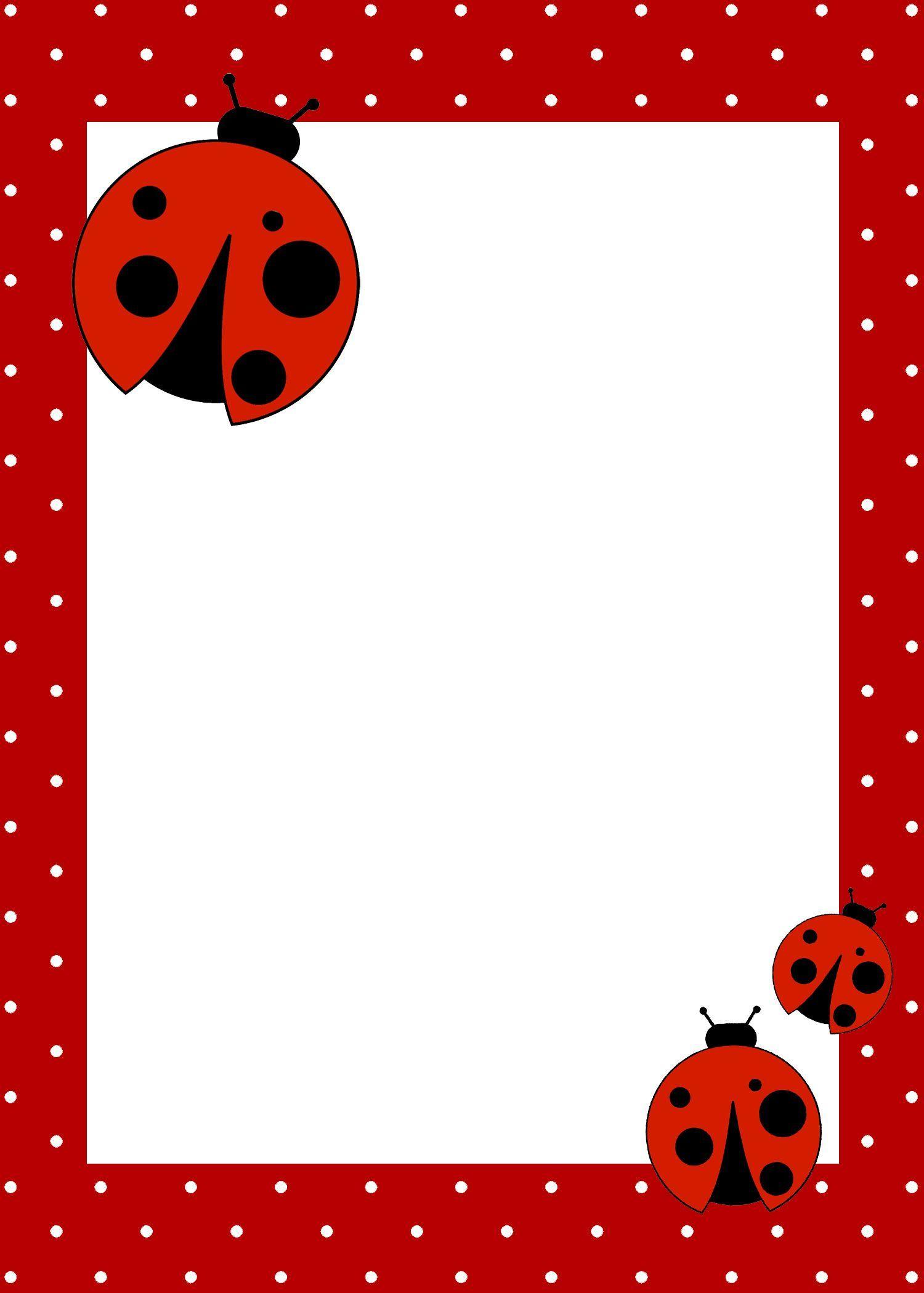 Free Printables ~ Ladybug Birthday Invitation, Garland, Cupcake - Free Printable Ladybug Invitations