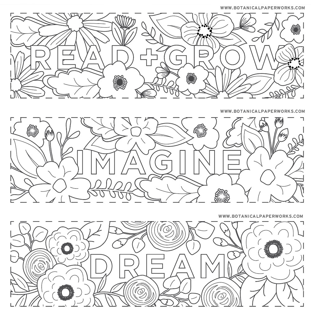 Free Printables} Read + Grow Coloring Bookmarks For Back-To-School - Free Printable Christmas Bookmarks To Color
