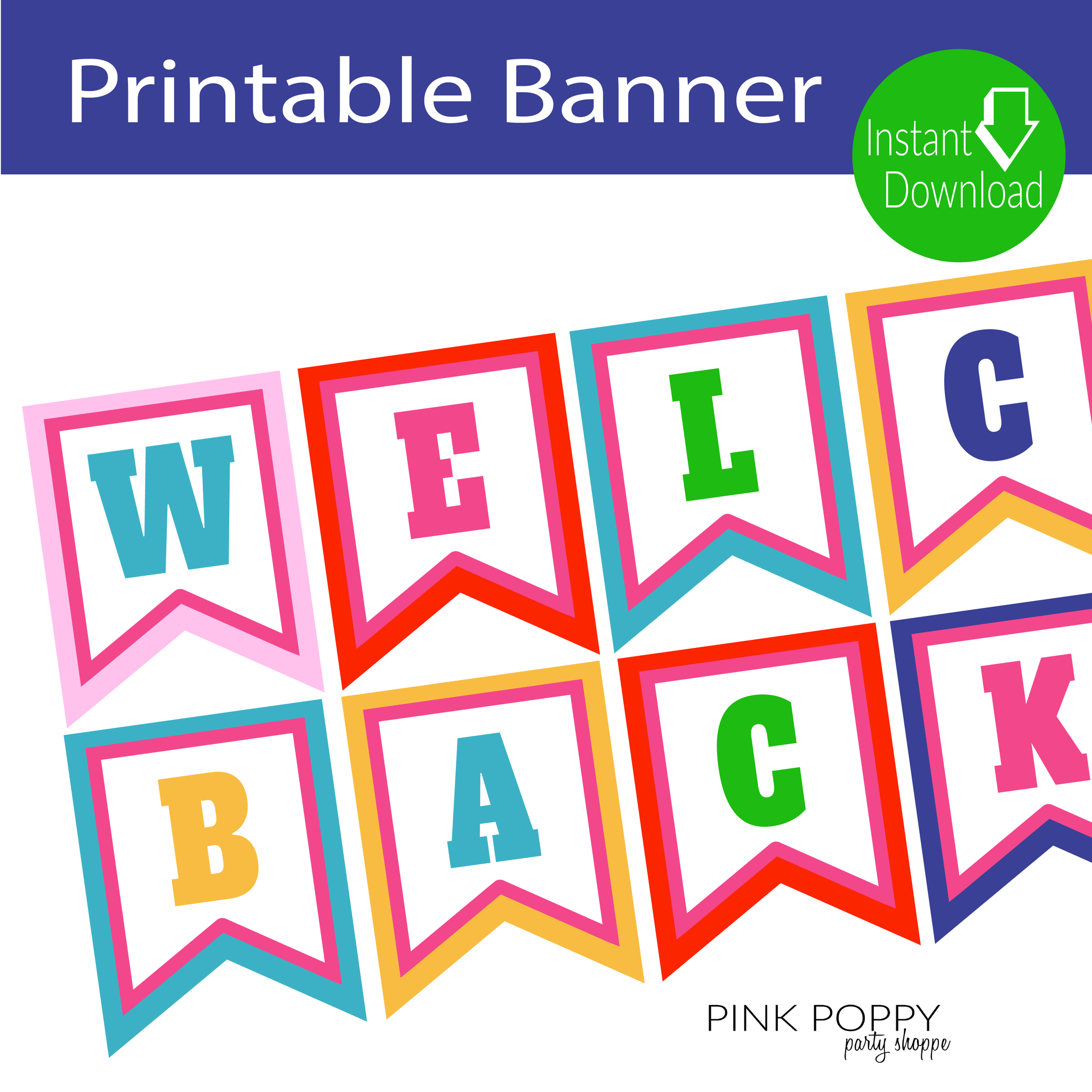 Free Printables} Welcome Back Banner | Edukacja | Welcome Banner - Welcome Home Cards Free Printable