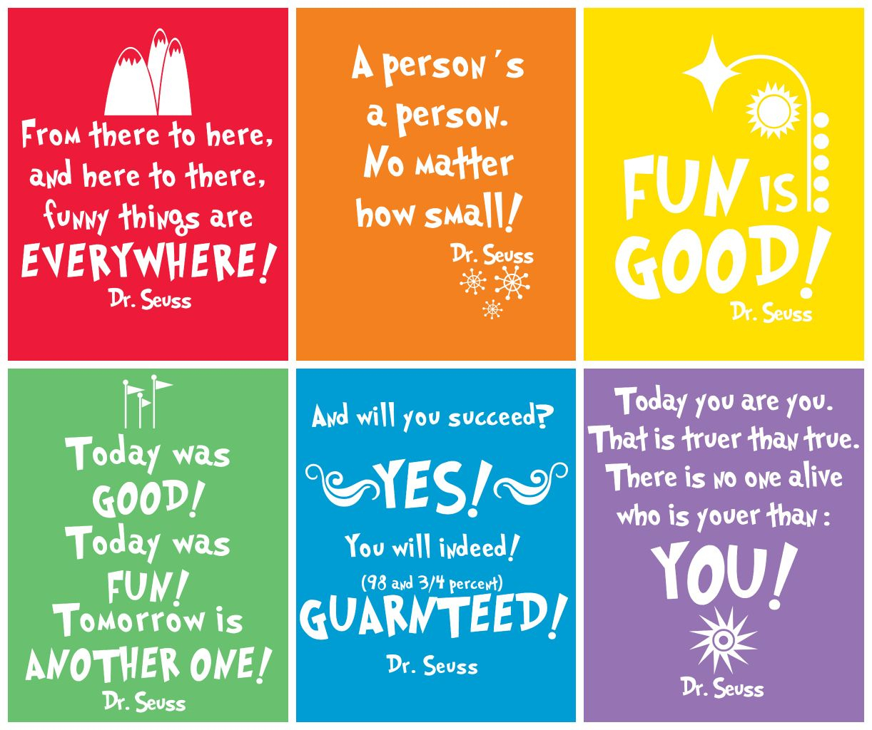Free Prints} Dr Seuss   Dr. Seuss   Pinterest   Printables, Free - Free Printable Dr Seuss Quotes