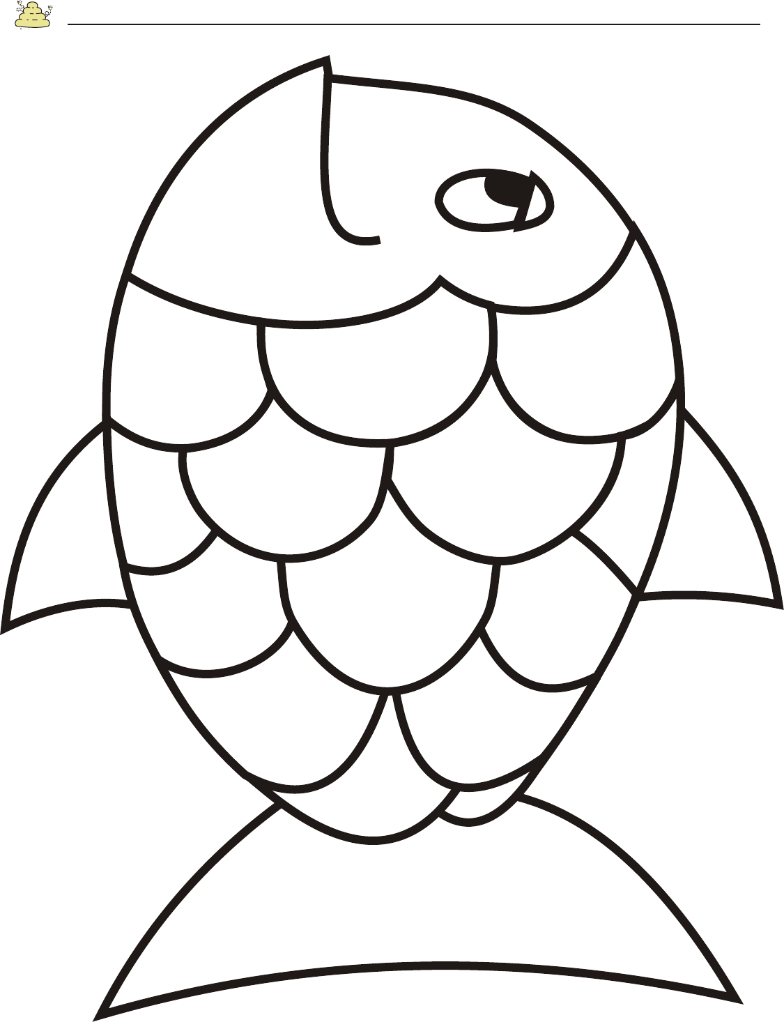 Free Rainbow Fish Template - Pdf | 2 Page(S) | Page 2 | Vbs - Free Printable Sea Creature Templates