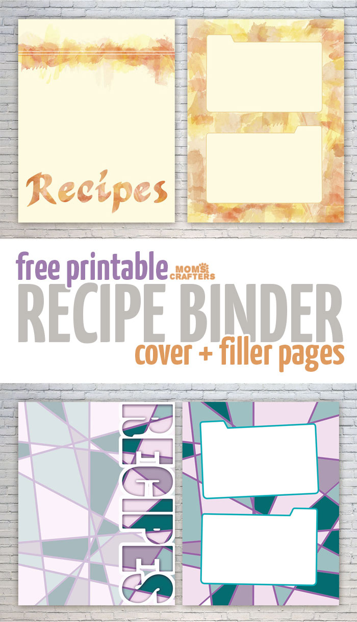 Free Recipe Binder Printables – Moms And Crafters - Free Printable Recipe Binder