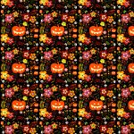 Free Scrapbook Paper: Halloween Pumpkins And Flowers | Rooftop Post   Free Printable Halloween Paper Crafts