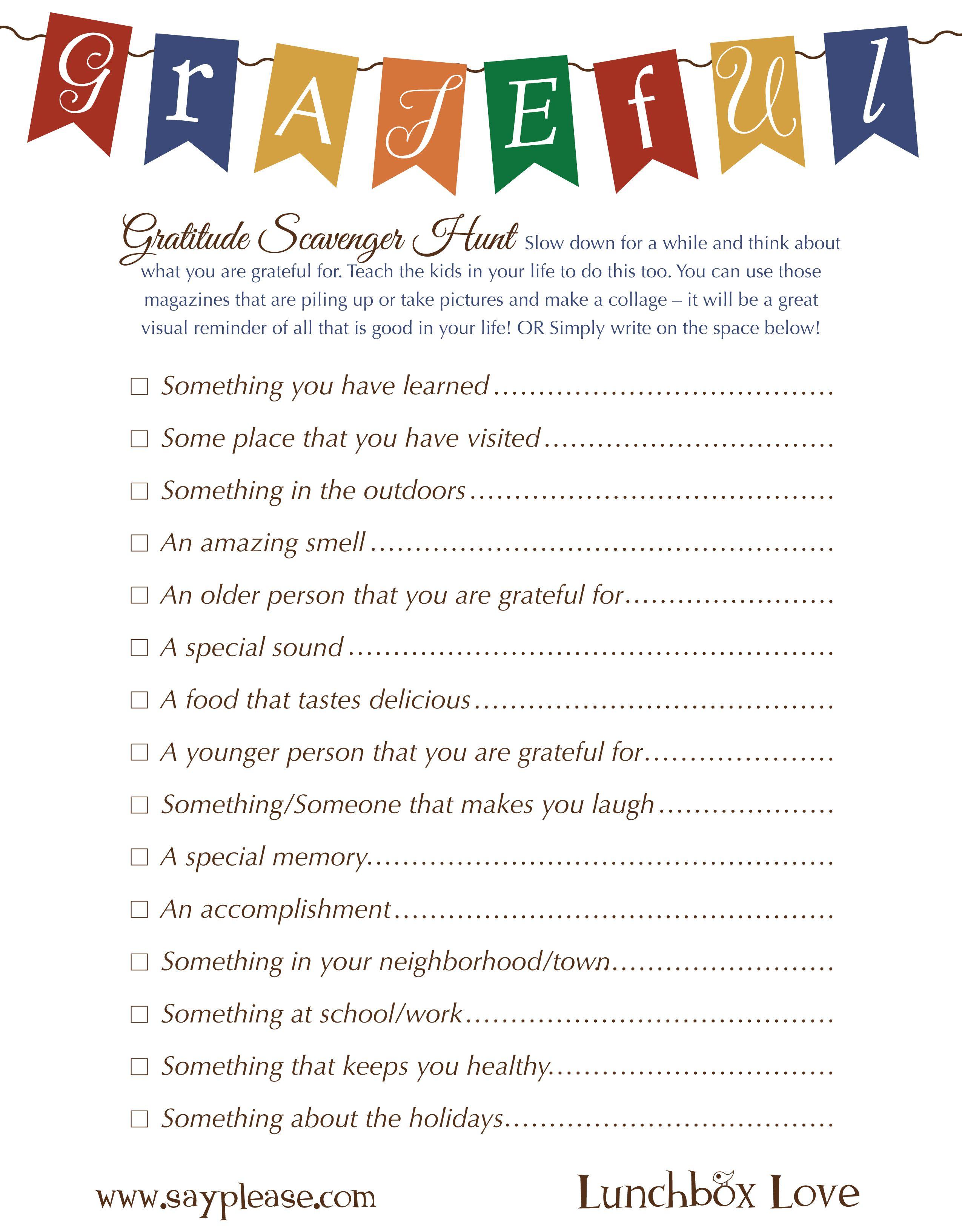 Free Seasonal Printables - Sayplease | Thanksgiving Ideas - Free Printable Gratitude Worksheets