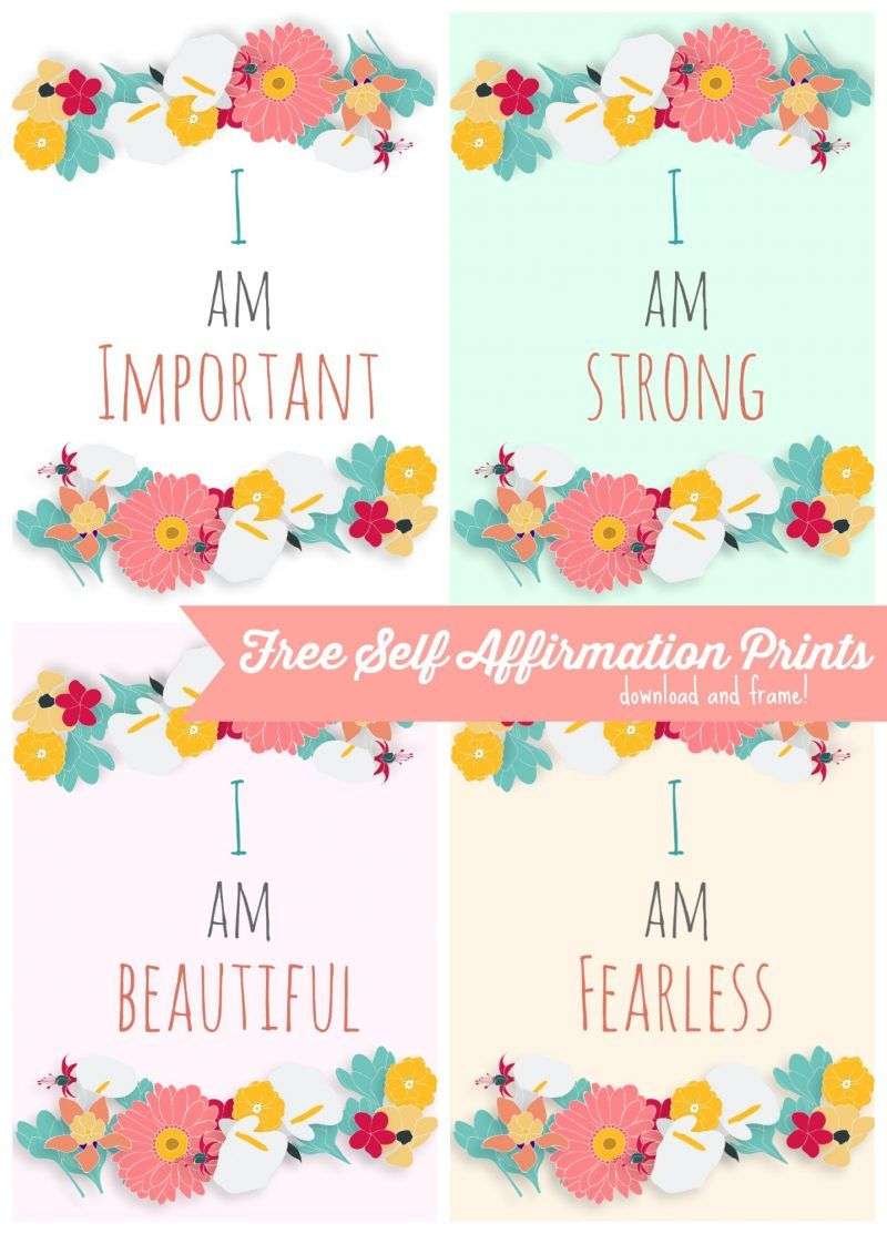 Free Self Affirmation Printables: Print Some Positivity -   Free - Free Printable Positive Affirmation Cards