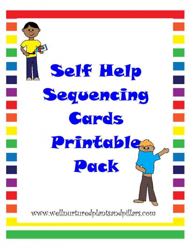 Free} Self Help Skills Sequencing Cards Printable Pack- Getting - Free Printable Sequencing Cards