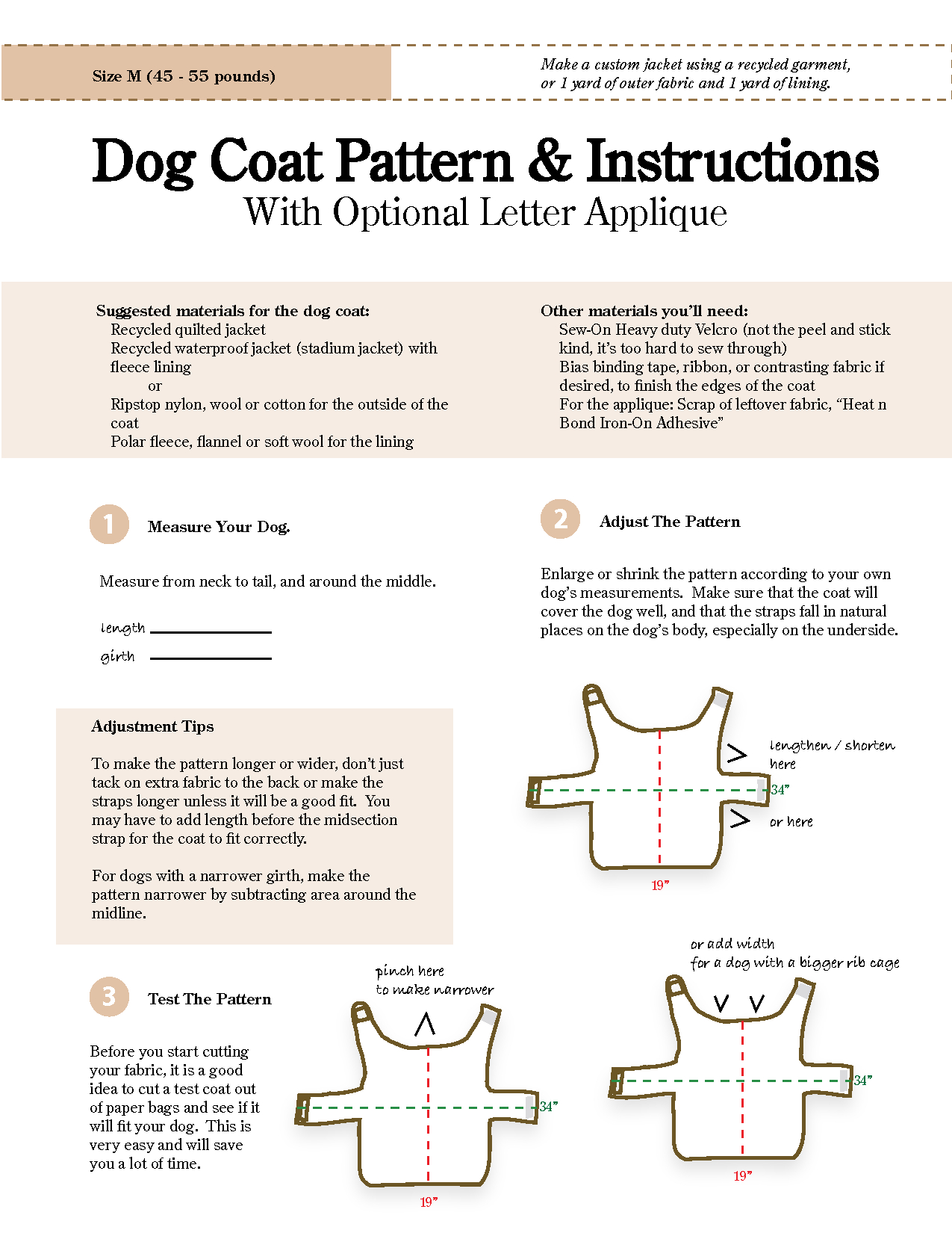 Free Sewing Patterns For Dog Clothes - New Zealand Of Gold Discovery - Free Printable Dog Coat Sewing Patterns