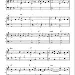 Free Sheet Music Scores: Free Easy Christmas Piano Sheet Music, O   Christmas Piano Sheet Music Easy Free Printable