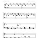 Free Sheet Music Scores: Free Easy Piano Sheet Music, Moonlight   Free Printable Piano Pieces