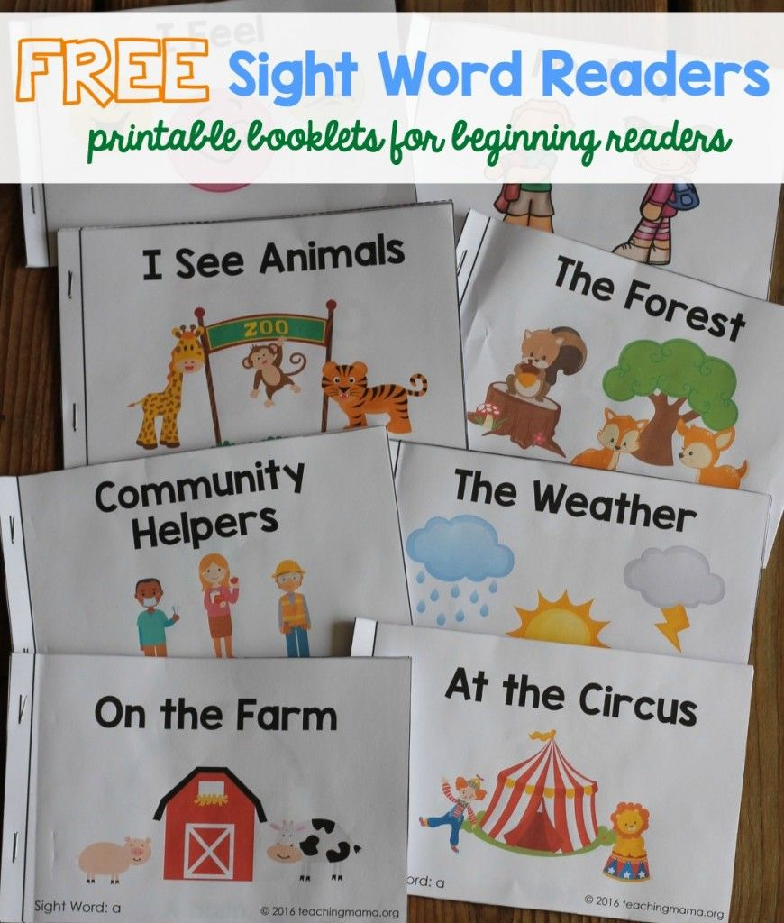 Free Sight Word Readers - Printable Booklets That Focus On Sight - Free Printable Decodable Books For Kindergarten