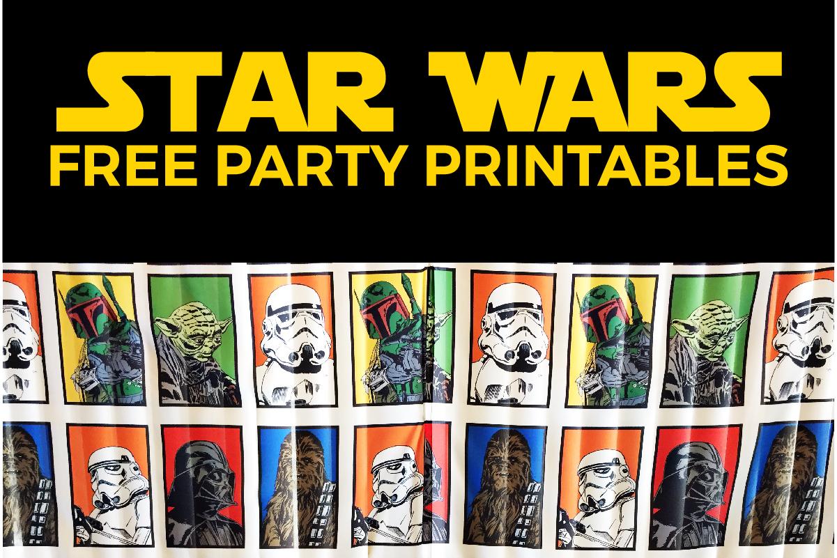 Free Star Wars Party Printables: A No-Stress Way To A Galactic Party - Star Wars Printable Cards Free