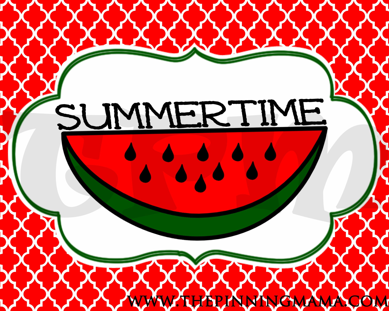 Free Summer Printable Word Art- Summertimewww.thepinningmama - Free Printable Summer Clip Art