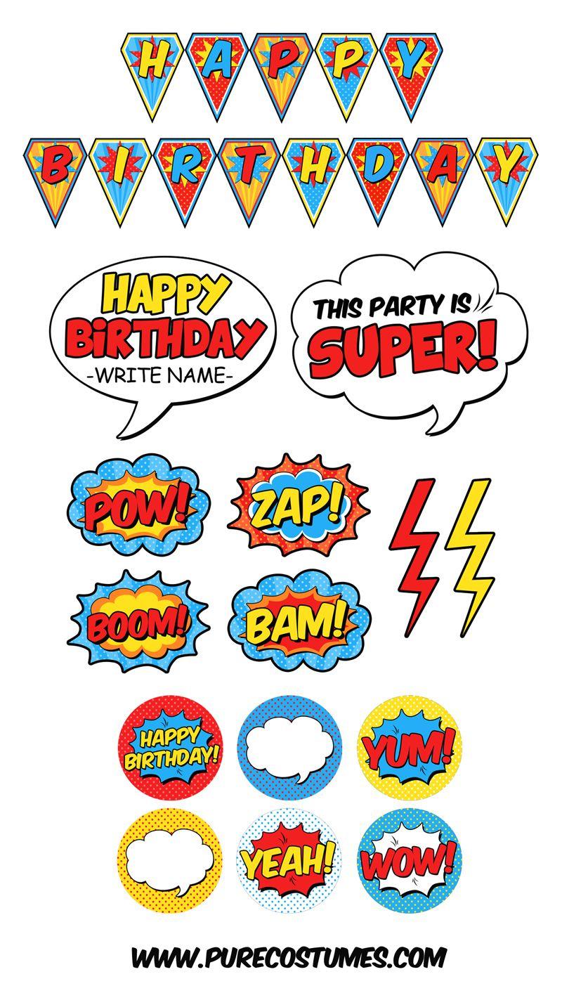 Free Superhero Pary Printables | Super Parties For Superheroes - Superhero Name Tags Free Printable