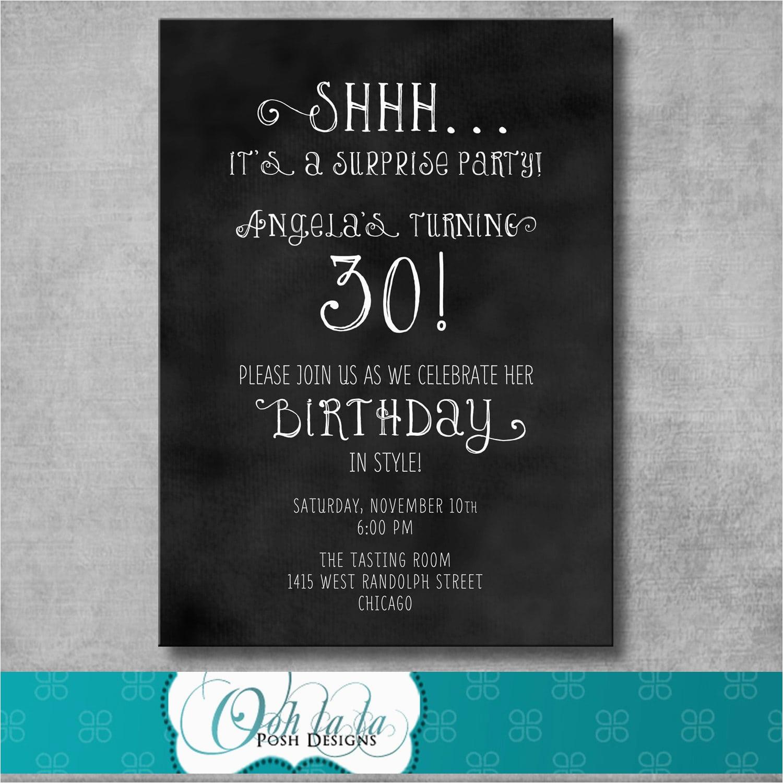 Free Surprise Birthday Party Invitations Free Printable Surprise - Free Printable Surprise Party Invitations