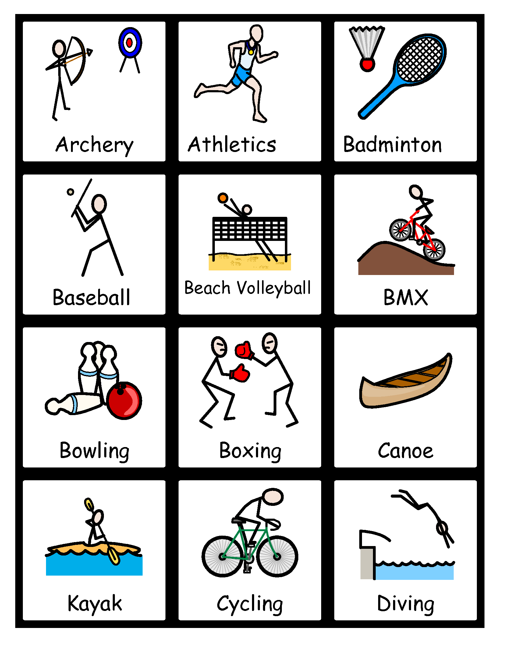 Free Symbolized Resources For 2015 Pan Am Games – Bridges News - Free Printable Widgit Symbols