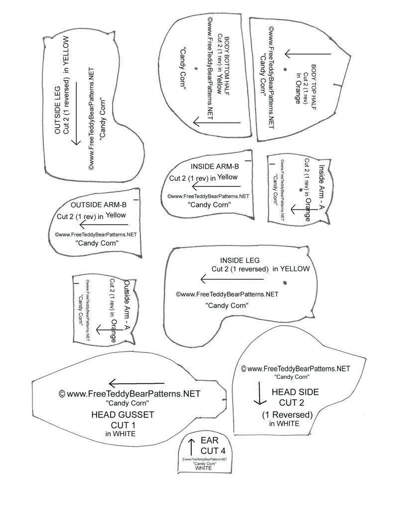 Free Teddy Bear Patterns Printable | Free Printable - Free Teddy Bear Patterns Printable