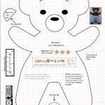 Free #teddybear #plush #toy Pattern @ Chellywood – Chellywood   Free Teddy Bear Patterns Printable
