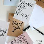 Free Thank You Card Printables // Delia Creates | Thank You Cards   Free Personalized Thank You Cards Printable