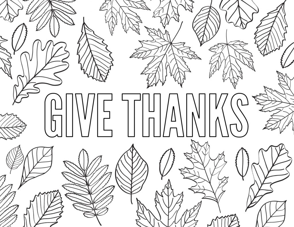 Free Thanksgiving Coloring Pages To Help Children Express Gratitude - Free Printable Thanksgiving Coloring Pages