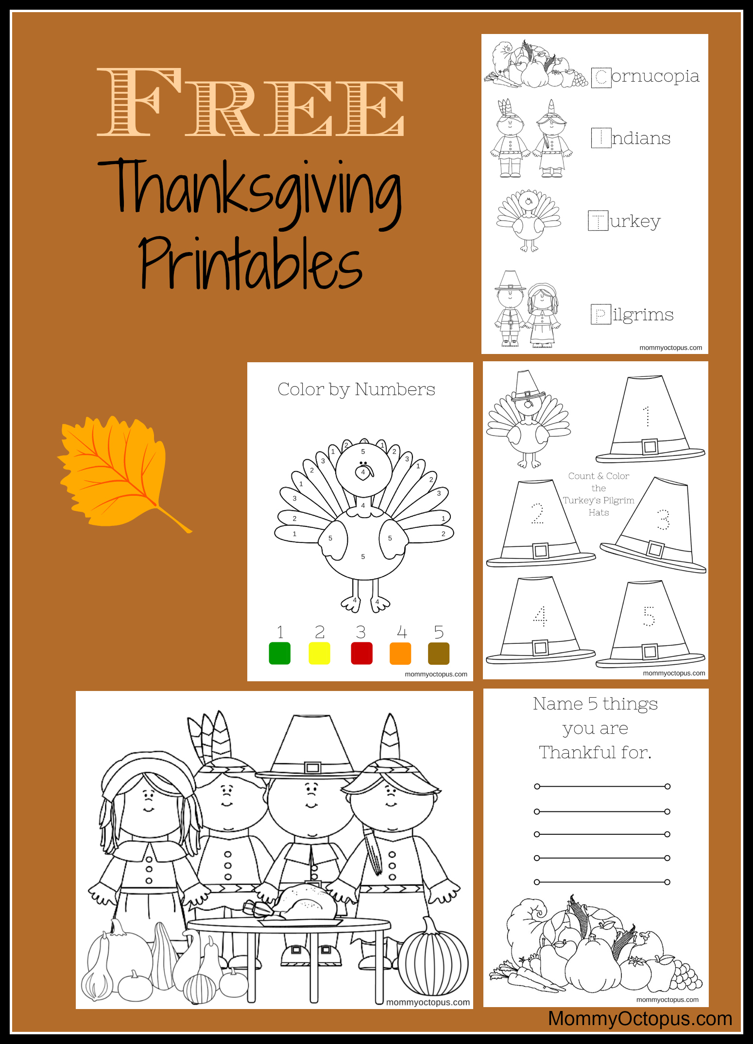 Free Thanksgiving Printable Activity Sheets! - Mommy Octopus - Free Printable Kindergarten Thanksgiving Activities