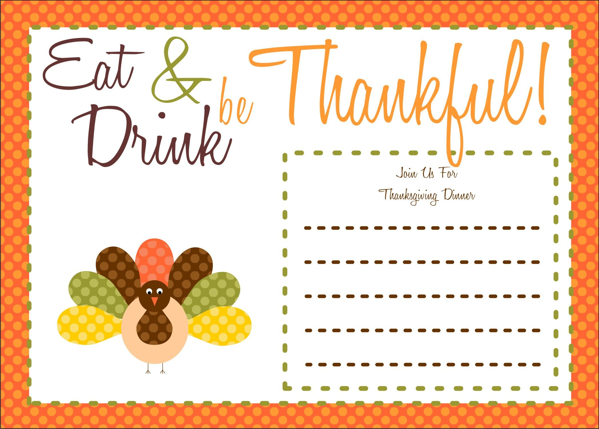 Free Thanksgiving Printables From The Party Bakery | Free Printables - Free Printable Thanksgiving Cards