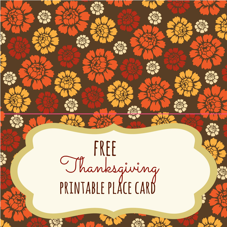 Free Thanksgiving Printables - Frugal Fanatic - Free Printable Thanksgiving Place Cards