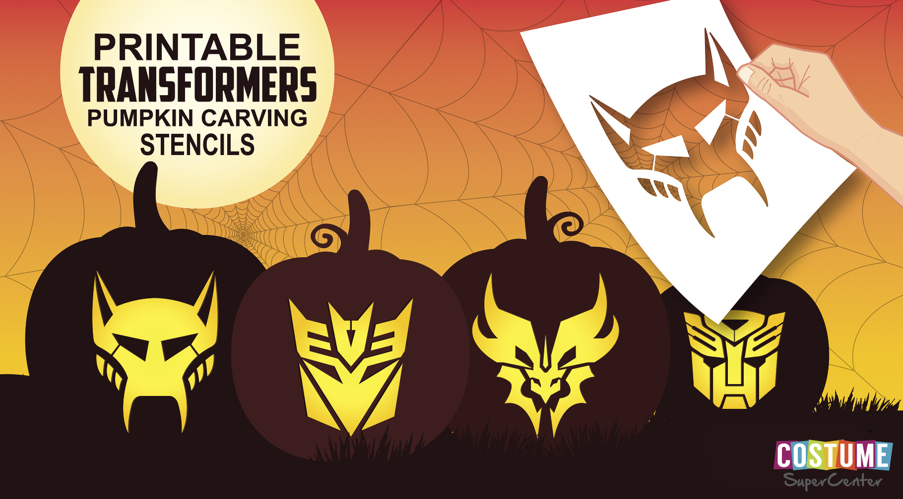Free Transformer Pumpkin Carving Stencils | Costume Supercenter Blog - Free Printable Pumpkin Carving Stencils