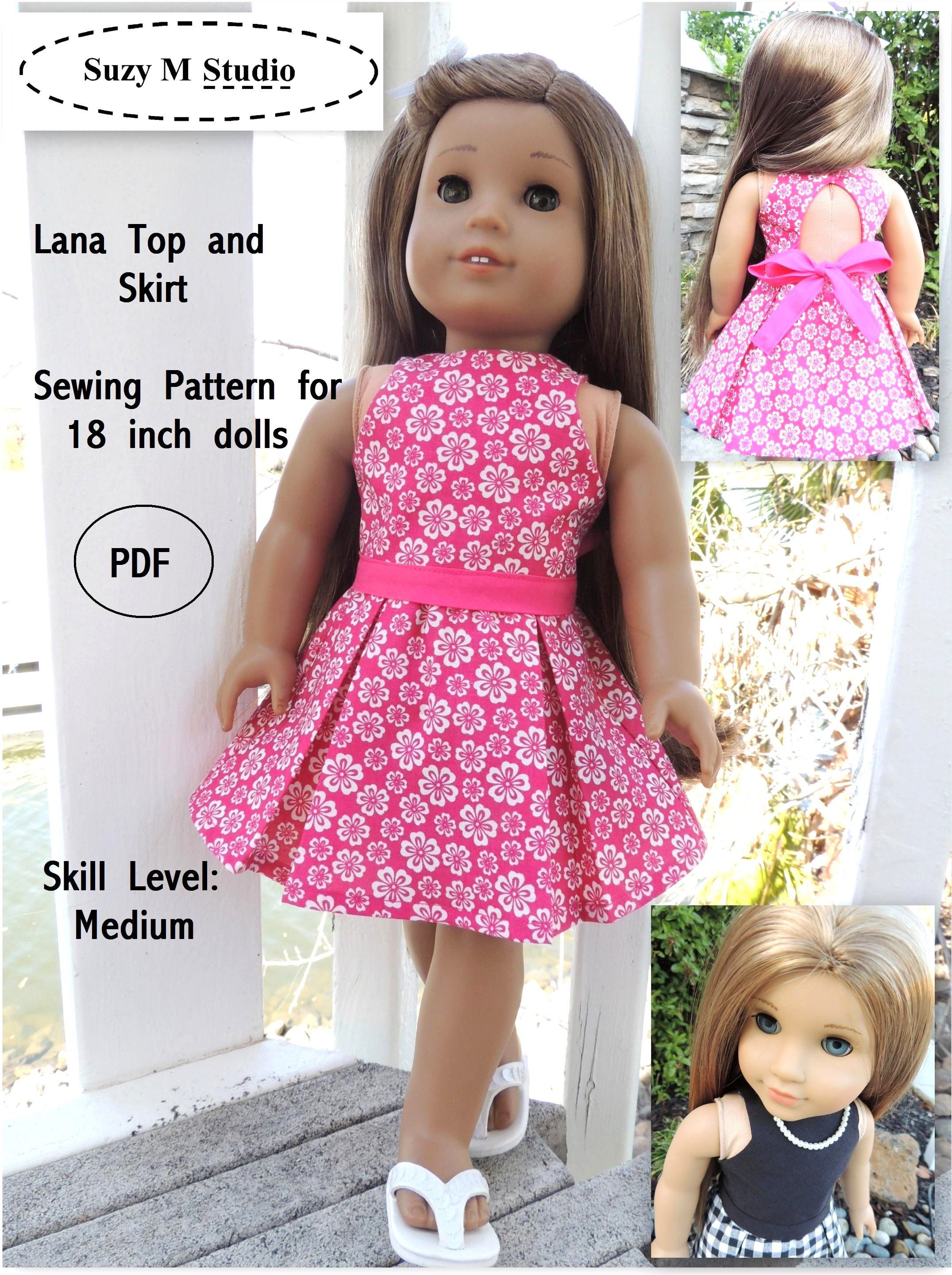 Free Tutorial Pdf   Suzymstudio …   Doll Clothes   Doll … - American Girl Clothes Patterns Free Printable